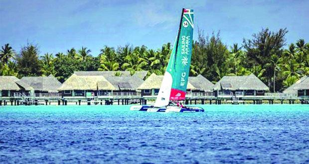 فريق عٌمان للإبحار فئة قوارب ديام يحقق لقب بطولة الطواف العالمي للإبحار الشراعي في جزر بولينيزيا الفرنسية
