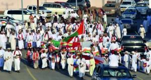 أهالي الواصل في بدية ينظمون احتفالا بالعيد الوطني المجيد