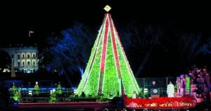 في تقليد عمره 96 عامًا ترامب وزوجته يضيئان شجرة عيد الميلاد الرئيسية في واشنطن