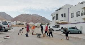 حملة تنظيف موسعة في منطقة غلا