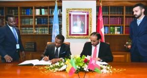 التوقيع على البيان المشترك لإقامة العلاقات الدبلوماسية بين حكومتي السلطنة وجمهورية بنين