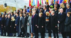 قادة العالم يحيون الذكرى المئوية لنهاية الحرب العالمية الأولى