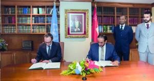 التوقيع على بيان إقامة علاقات بين السلطنة وسان مارينو