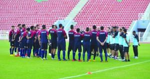 منتخبنا الوطني الأول يواصل تدريباته استعدادا لمواجهتي سوريا والبحرين