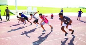 ختام مسابقة ألعاب القوى لمدارس ولاية صلالة