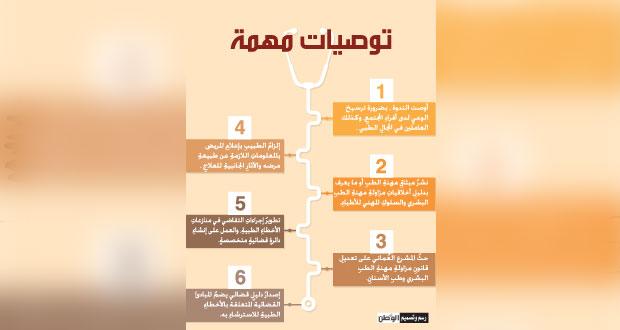 (الخطأ الطبي) توصي بمعاييرَ معتمدةٍ وتطوير إجراءات التقاضي