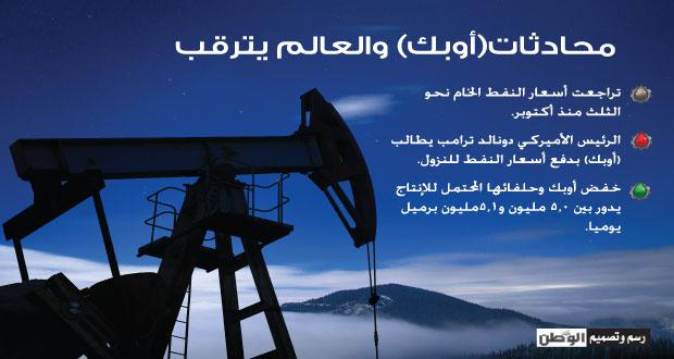 نفط عمان بـ(14ر60) وأوبك تتفق مبدئيا على (الخفض)