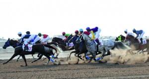 اليوم 8 أشواط في منافسات سباق الخيل السابع بالرحبة ينظمه نادي سباق الخيل السلطاني