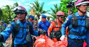 انزلاق كتلة كبيرة من جزيرة أراك كراكاتوا سببت (سونامي) أندونيسيا