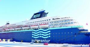"""ميناء صلالة يستقبل """"هوريزون"""" وعلى متنها أكثر من 1000 سائح"""