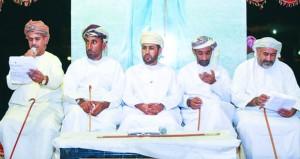 أمسية شعرية وطنية في حب عمان بولاية المصنعة
