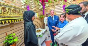 افتتاح معرض الحضارة الأندلسية بجامعة السلطان قابوس