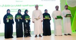 تكريم 13 فائزا فـي الجائزة الوطنية للبحث العلمي وأفضل 6 مشاريع بحثية ضمن جائزة بحوث الطلاب