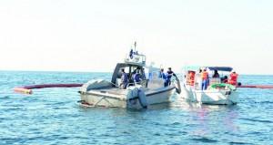 بدء فعاليات التمرين الوطني لمكافحة التلوث الزيتي بمحافظة مسندم