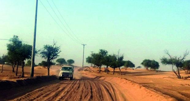 أهالي وادي اللبيدعة بجعلان بني بوعلي يطالبون برصف طريق الوادي