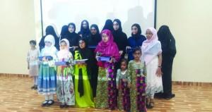 تكريم حافظات القرآن الكريم على مستوى مدارس ومراكز شناص