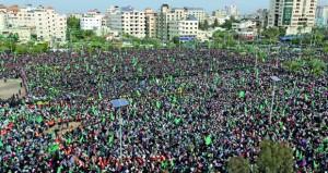 حماس تحيي انطلاقتها الـ31 بمهرجان مركزي في غزة