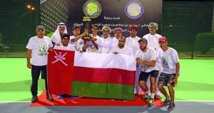 إشادة بالمستوى الفني للتنس العماني والتنظيم المتميز للبطولة الخليجية