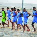 منتخبنا الوطني للكرة الشاطئية يواصل تدريباته للبطولة الآسيوية