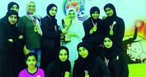 ختام بطولة مؤسسات التعليم العالي لكرة اليد للفتيات
