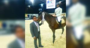 سلطان الطوقي يحقق المركز الرابع في بطولة اللوجينس ماستر لقفز الحواجز بباريس