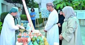 افتتاح سوق المشغولات اليدوية بالمتحف العُماني الفرنسي