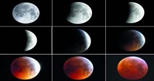 القمر الدموي يدفع الكثيرين حول العالم لتحدي البرد ومتابعته في السماء