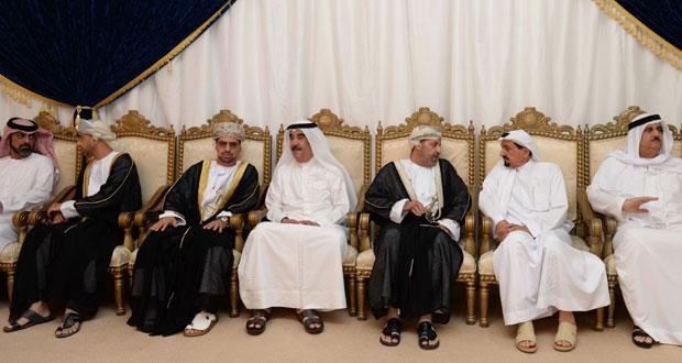 تعازي جلالة السلطان لحاكم عجمان نقلها حمود بن فيصل