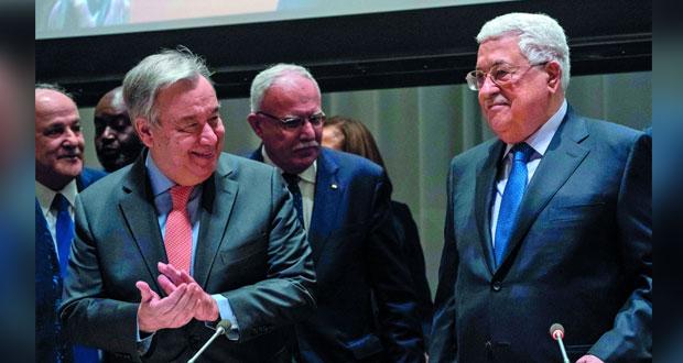 فلسطين تتعهد بحماية مصالح دول الـ (77 والصين)