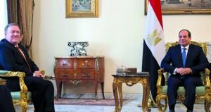 وزير الخارجية الأميركي يلتقي الرئيس المصري ويؤكد على تعزيز الشراكة مع الحلفاء لدحر الإرهاب