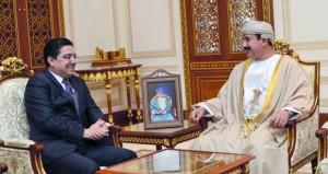 وزير المكتب السلطاني يستقبل وزير الشؤون الخارجية والتعاون الدولي المغربي