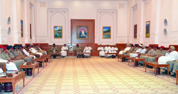 رئيسا مجلسي الدولة والشورى يستقبلان منتسبي دورة الدفاع الوطني السادسة