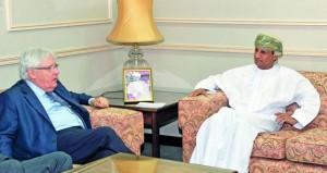 محمد الحسان يستقبل المبعوث الخاص للأمين العام للأمم المتحدة لليمن