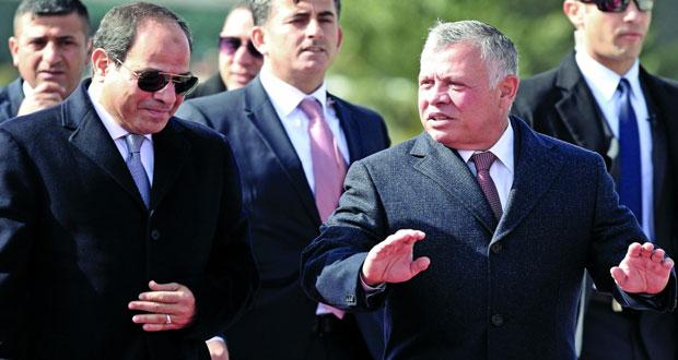 الأردن ومصر تبحثان تطورات الأوضاع الإقليمية والتعاون الثنائي