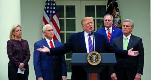 أميركا: ترامب يتمسك بطلب تمويل الجدار ويؤكد استعداده لـ (إغلاق حكومي) طويل الأمد