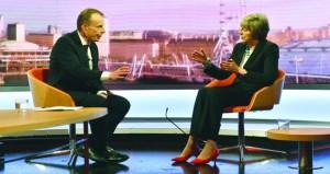 رئيسة وزراء بريطانيا تحذر من دخول بلادها منطقة مجهولة