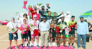 البوشري يتوج بطلا لسباق الدراجات الهوائية الفردي العام للرجال والحسني لفئة الشباب