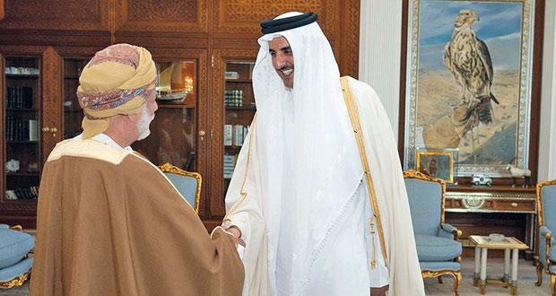 أمير قطر يستقبل ابن علوي