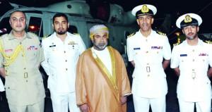 سفينة البحرية السلطانية العمانية تقيم حفل استقبال رسمي في إطار مشاركتها في التمرين البحري الدولي المشترك (أمان 19)