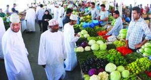 معدل التضخم بالسلطنة يرتفع بنسبة 0.23% يناير الماضي