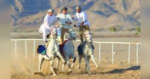 خمسة وستون فارسا يستعرضون مهاراتهم في مهرجان رياضات الخيل التقليدية بولاية أدم