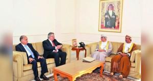 وزير الزراعة والثروة السمكية ورئيس الهيئة العامة للمياه يستقبلان رئيس سلطة المياه الفلسطينية