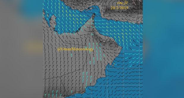 توقعات بانخفاض الحرارة و تدني الرؤية الأفقية نتيجة هبوب رياح شمالية