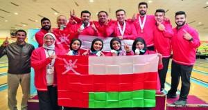 البرواني والهاشمي والحديدي يهدون السلطنة أول ميدالية ذهبية في البطولة العربية للبولينج بالقاهرة