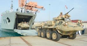 اكتمال وصول القوات المشاركة في (درع الجزيرة 10)