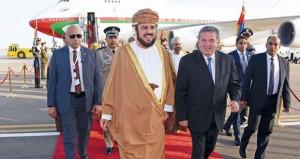 أسعد بن طارق يصل شرم الشيخ لترؤس وفد السلطنة في القمة العربية الأوروبية