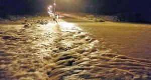 أمطار متفاوتة الغزارة على معظم المحافظات الشمالية للسلطنة نتيجة منخفض جوي ماطر