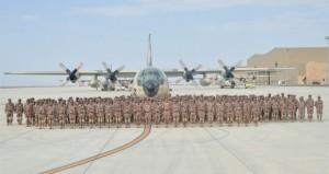 قوة من كتيبة مسقط بالجيش السلطاني العماني غادرت جواً إلى السعودية