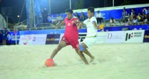منتخب القدم الشاطئية يتجاوز العراق 6/2 ويلاقي إيران في الجولة القادمة في نهائيات كأس آسيا