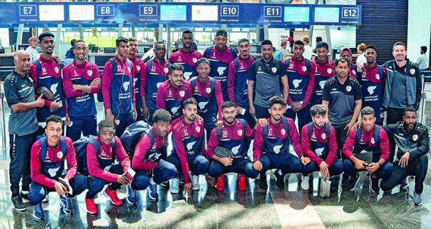 بعثة منتخبنا الأولمبي تغادر إلى المنامة لإجراء البروفة الأخيرة أمام المنتخب البحريني غدا